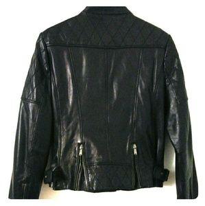 NuBorn 100% Leather Motorcycle Jacket