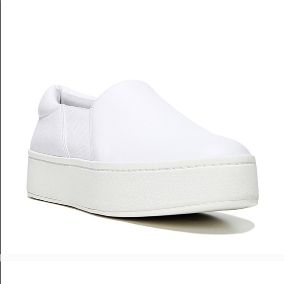 1fe049e60 Vince Shoes | Warren Slip Ons In White Plaster Leather | Poshmark
