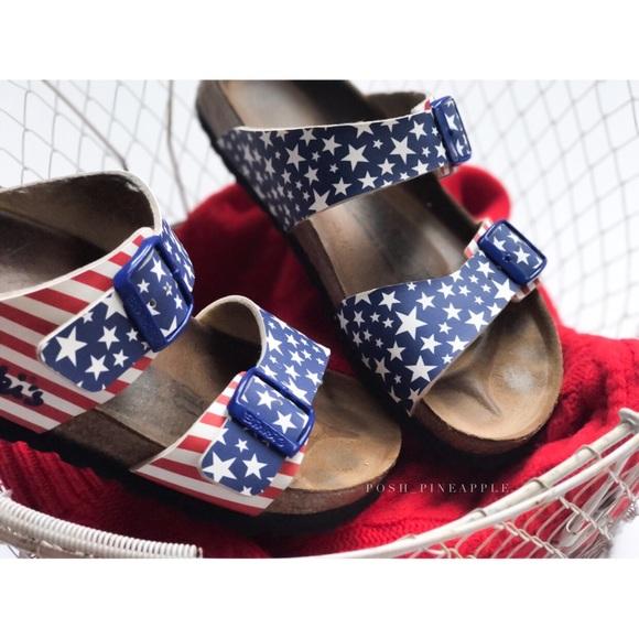 440500eb8e38 Birkenstock Shoes - Birki s by Birkenstock Stars   Stripes Sandals Sz7