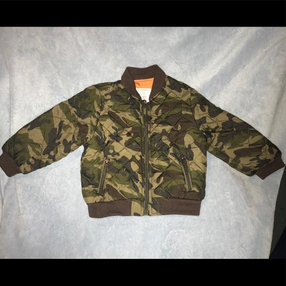 534ec5f00d3 Zara BabyBoy Army Fatigue Bomber Jacket. M 5983e64bea3f36868d00f988