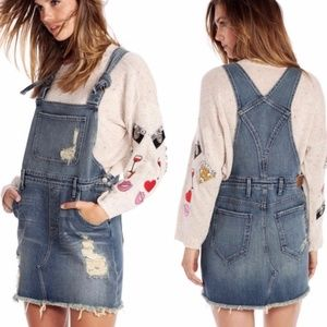 WILDFOX Distressed Overall Dress