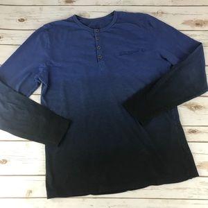 Simon Long Sleeve Blue  Ombré Shirt