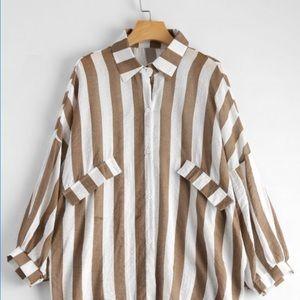 Tops - Oversized Button-down Shirt