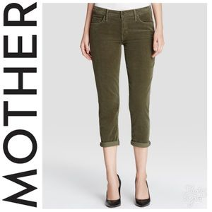 MOTHER The Dropout Slouchy Skinny Corduroy Jeans