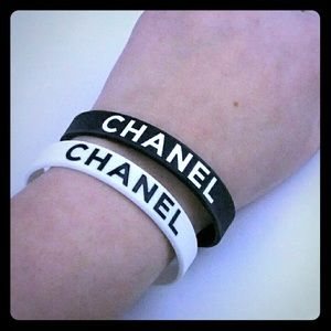 Chanel vip rubber bracelet black