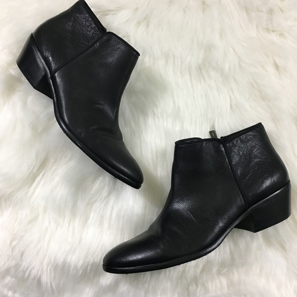 196a38621 Sam Edelman Black Leather Petty Boots. M 59840425680278c520014ea6