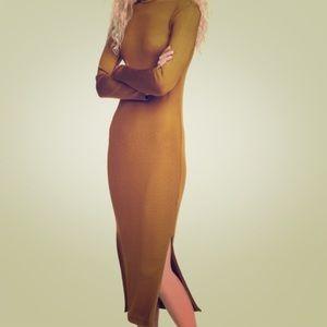 Ribbed Midi Bodycon Dress