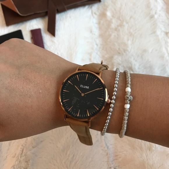CLUSE Jewelry - NWT CLUSE LA BOHÉME ROSE GOLD BLACK WATCH + strap