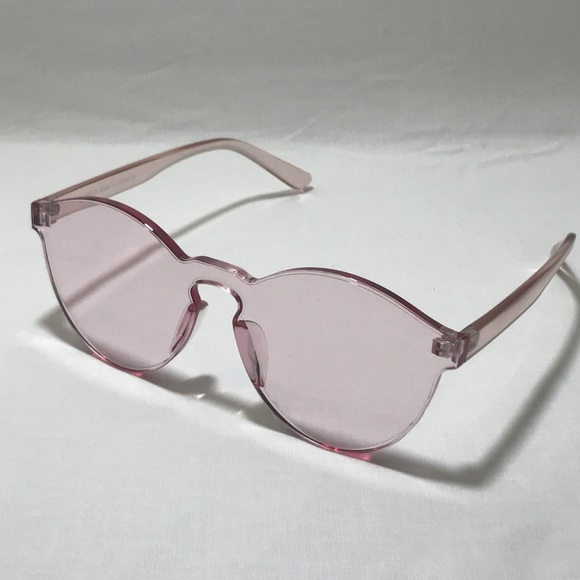 dc7bbf33fe Light Pink Single Lens Acrylic Sunglasses