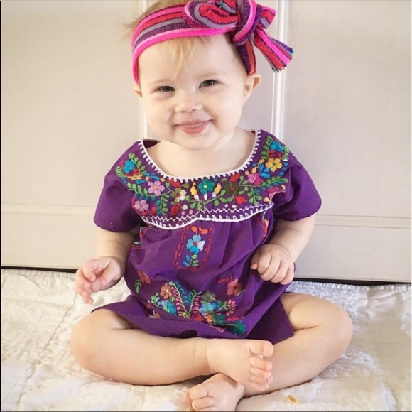 Mexican Embroidered Traditional Dress Baby Girls d966db5802f