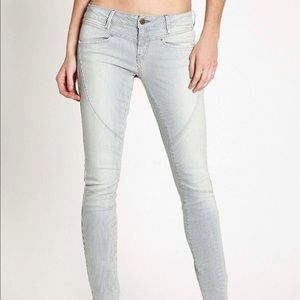 GUESS Brittney Skinny Striped Jeans -PANELED