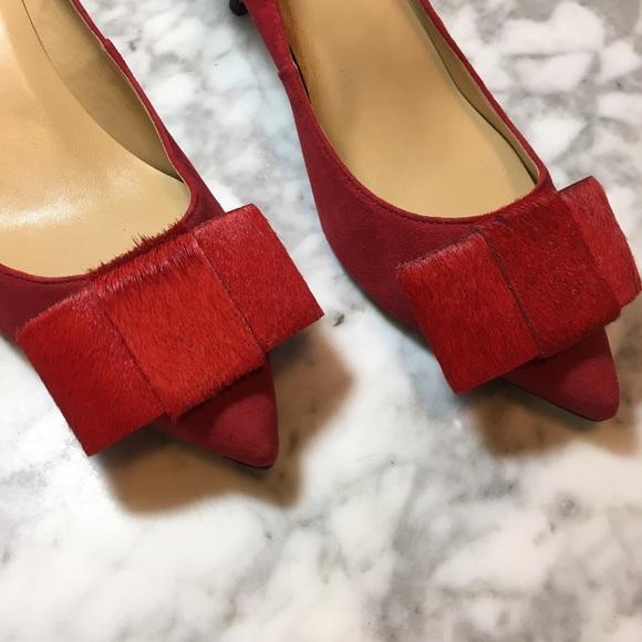 fcdcf2450074 Talbots•Red Kitten Heel Pumps. M 598465955c12f8a8ec01e153