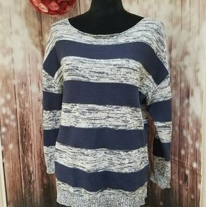 Coldwater Creek Striped Oversized Sweater