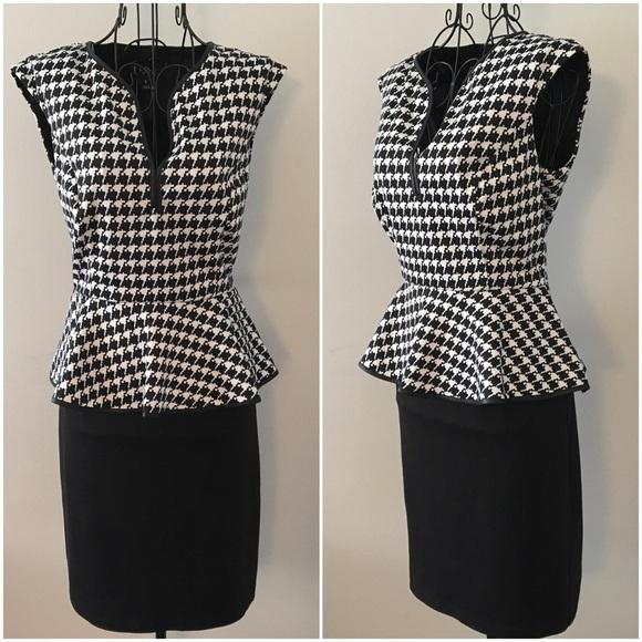 ed0aa9b0634 Enfocus Studio Dresses & Skirts - 💋Enfocus Studio Peplum Houndstooth  Dress💋