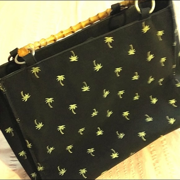 Sunny Hawaii Handbags - Sunny Hawaii Bamboo Black Palm Tree Bag