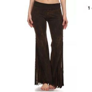 Pants - Fringe Mineral Washed Yoga Pants