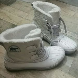 Sorel White Winter Rain/Snow Boots Waterproof