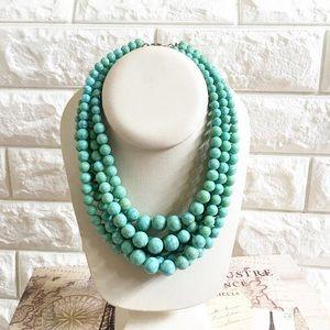 Handmade turquoise multi strand necklace