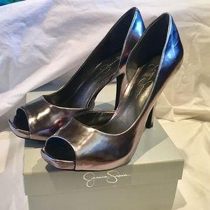58a7016ef49c Jessica Simpson Shoes - Jessica Simpson Josette pewter peep toe D Orsay