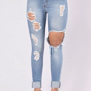 no name Jeans - distraught jeans cute