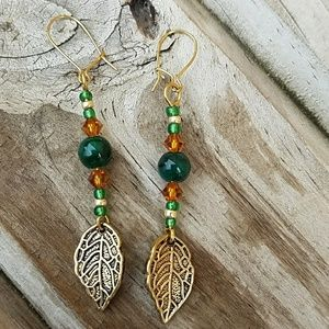 Jewelry - Earthy Leaf Earrings