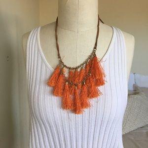 🌵 Orange Tassel Necklace 🌵