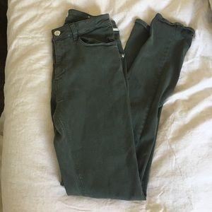🌵 Zara Army Green Skinny Jeans Size 8 🌵