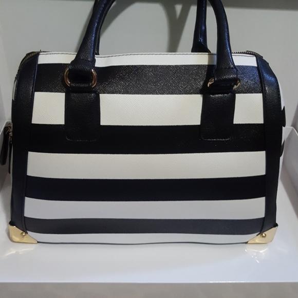Aldo Bags | Black White Striped And