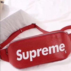 5567c7d4c Louis Vuitton Bags - Supreme x Louis Vuitton fanny pack RED
