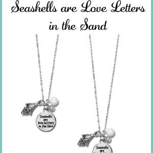 Jewelry - Seashells are Love Letters in the Sand Necklace