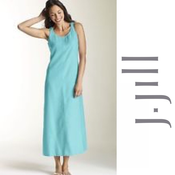 744a690ac37 J. Jill Dresses   Skirts - J. Jill linen turquoise maxi dress Medium
