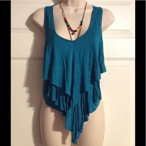 Tops - Boho Country Chic Layered Top w/necklace