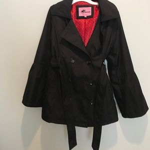 Other - Black Rain Pea Coat