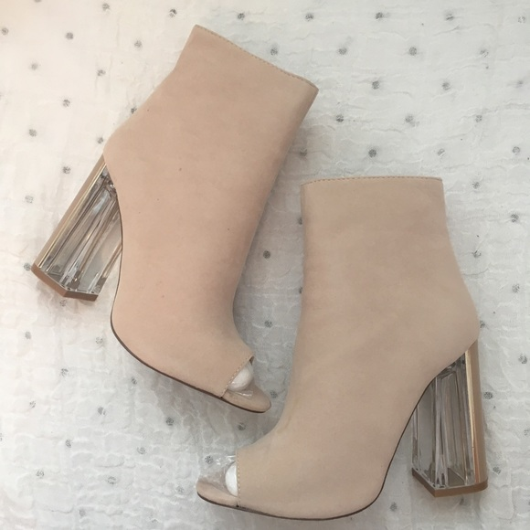 e081029c5fde Public Desire Jenny Heeled Ankle Boots in Nude