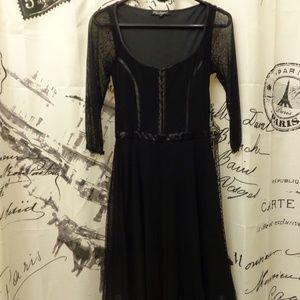 Betsey Johnson Black Baby Doll Dress