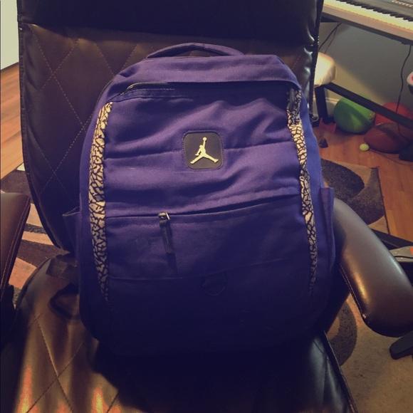 fcfd1b7ca3 Jordan Handbags - royal blue  purple jordan backpack 🎒