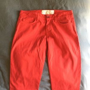 Pants - Red skinny jeans