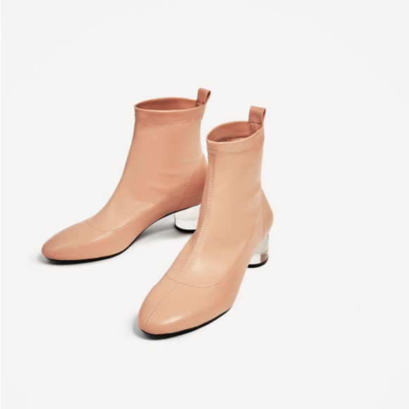 d220e366f14e Zara Ankle Boots with Methacrylate Heel Lucite