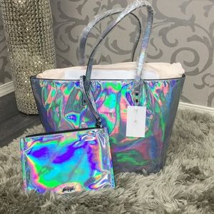 🆕70 Nasty Gal Out of this world hologram tote