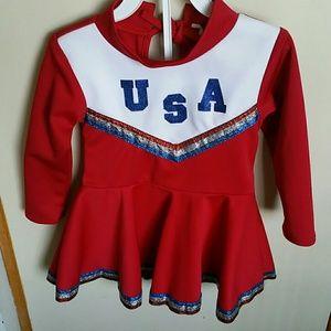 Cheerleader costume for little girl