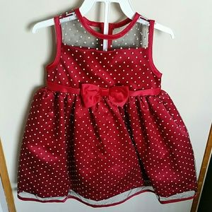 Holiday red dress for little girl