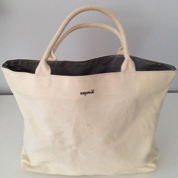 4ba477d5a Esprit Handbags - Esprit small canvas tote bag