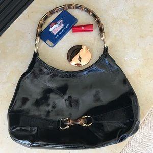 FOR SALE Talbots NWOT black patent purse