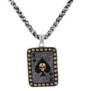"Other - Skull Pendant, Stainless Steel&Black CZ 20"" Chain"