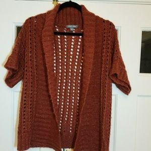 Women's Rust Colored Knit Cardigan Sweater
