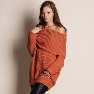 Spellcast Off Shoulder Chunky Sweater