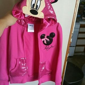 Pink Minnie Mouse sequence  sweater
