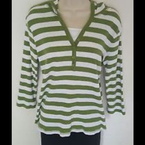 Jason Maxwell Jackets & Coats - Green Striped Hoodie