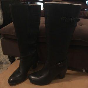 Women's black Born boots