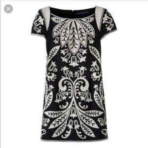 French Connection Black White Damask Short dress
